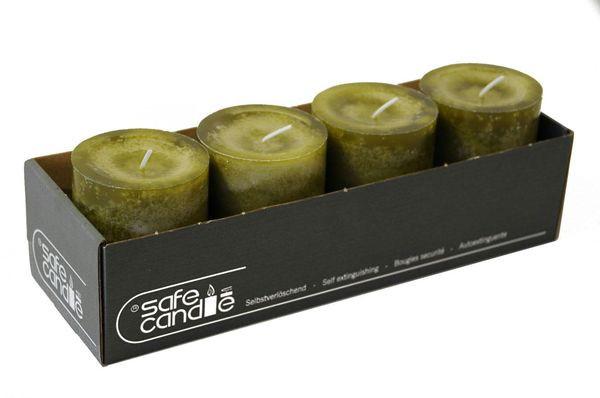 Trendkerzen 90/70, olive