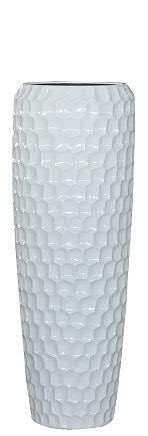 Vase FS166 H97cm, glz.weiß