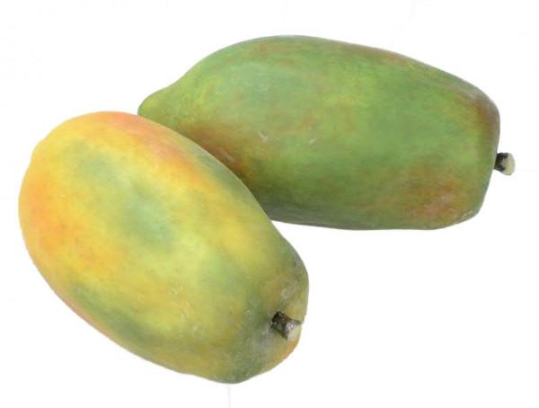 Papaya 14cm, gelb/grün