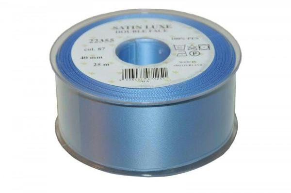 Band Satin 22355/40mm 25m, 087 h.blau