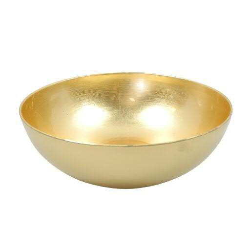 Schale Kunststoff D25H9cm rund außen matt, gold