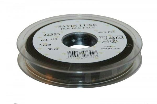 Band Satin 22355/03mm 50m, 725 schwar