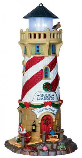 Snug Harbor Lighthous 11,2x24,5cm 4,5V Beleuchtet, Batteriebetrieben
