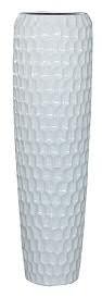 Vase FS166 H117cm, glz.weiß
