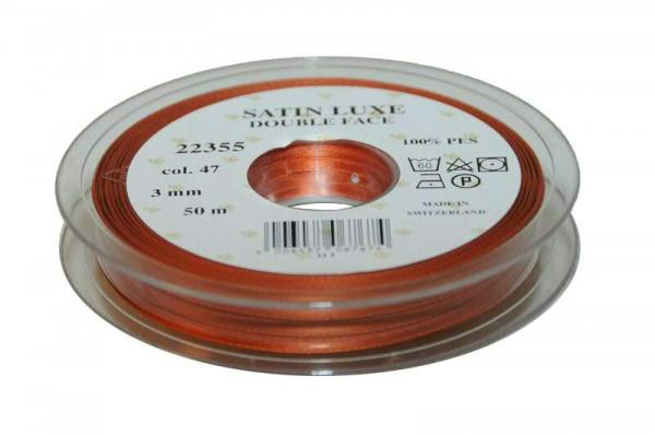 Band Satin 22355/03mm 50m, 047 kupfer