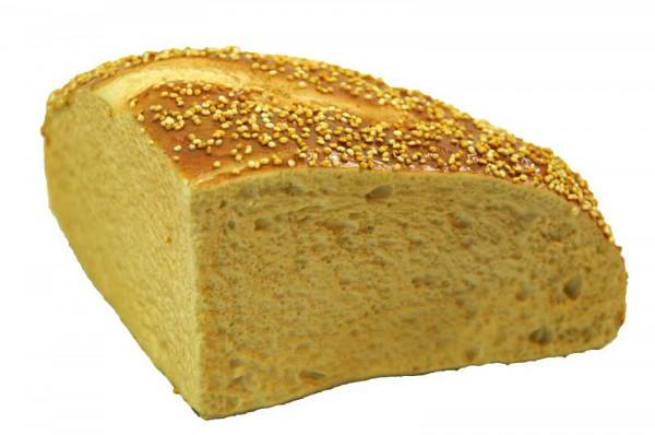 Brot H8,5cm B14cm Viertel