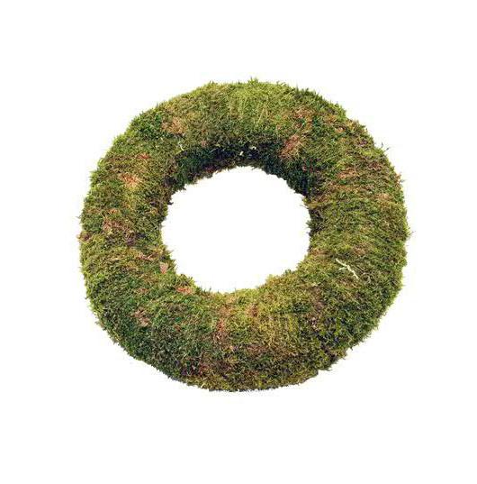 Moos Kranz 38x14cm, grün