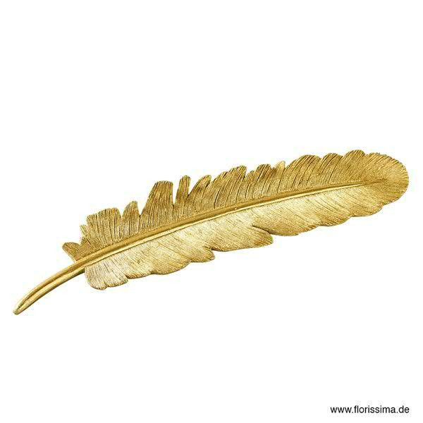 Feder Poly 18cm 3St., gold