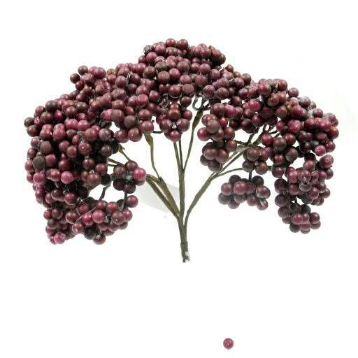 Beeren Bündel 25cm x4, lila