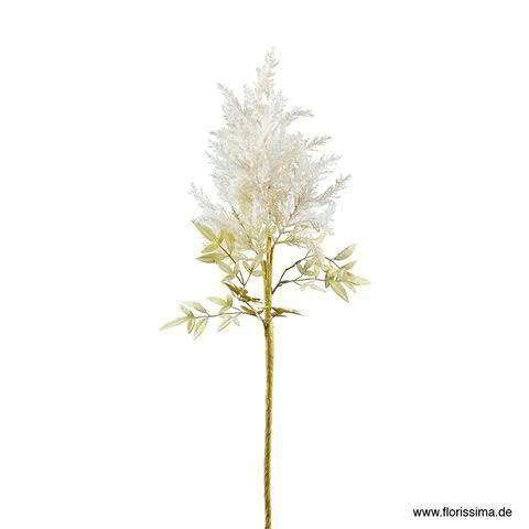 Zweig 81cm beflockt, weiß