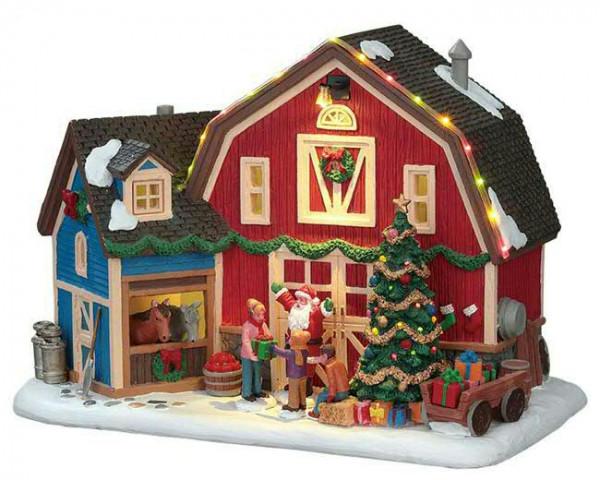 Christmas at the Farm 24,6x16,6cm 4,5V Beleuchtet mit Stecker