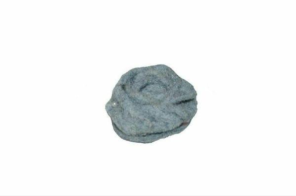 Rose Filz SP 4x2,5cm, grau