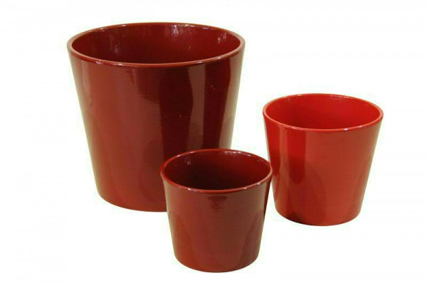 Kübel Keramik 440/23cm, rot glz