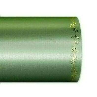 Kranzband 2505/125mm 25m Satin Efeurand gold, 706 grün