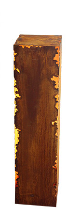 Rost Säule 25x25x100cm eckig Gravina