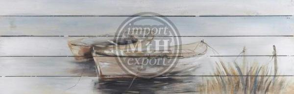 Bild Holz 150x50x5cm, Boot 2