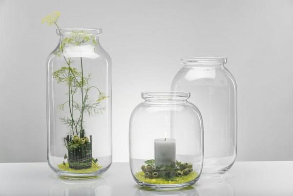 Glas Vase H41cm, klar