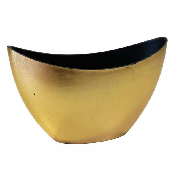 Schiffchen Kunststoff 24x10x14cm, gold