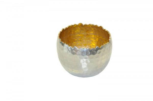Sphärenlicht Alu 8x6cm, silb.gold
