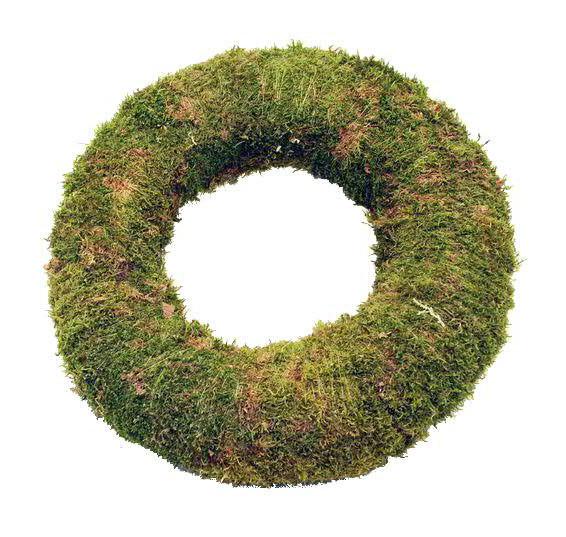 Moos Kranz 48cm, grün