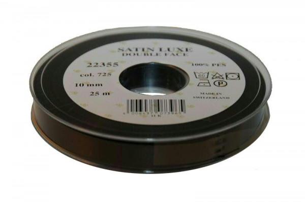 Band Satin 22355/10mm 25m, 725 schwar