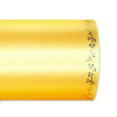 Kranzband 2505/100mm 25m Satin Efeurand gold, 712 h.gelb