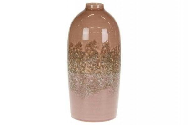 Vase Keramik 14,5x14,5x31cm, pink/lila