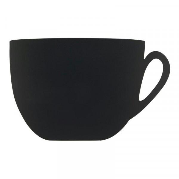 Kreidetafel Tasse 28,3x44,5cm inkl. 1 Kreidestift + Wandmontageset, schwarz