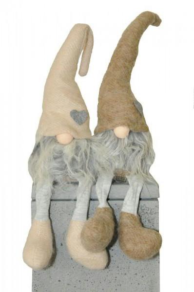 Wichtel 50cm Strick M Herz Hellbraun Wichtel Tiere Und Figuren