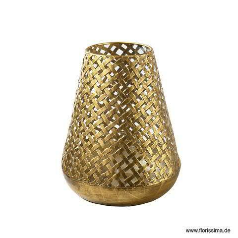 Windlicht Metall D20,5H25cm konisch, antik gold