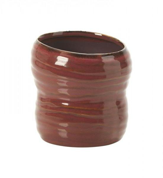 Kübel Keramik D12H12cm Jaques, rot