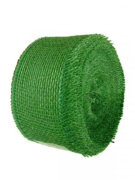 Juteband 50mm 40m, dkl.grün