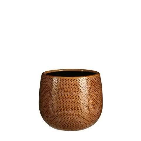 Kübel Keramik D16H14cm, ocker