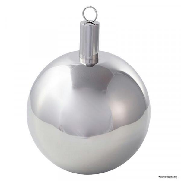 Öllampe Metall Kugel SP D17cm, silber