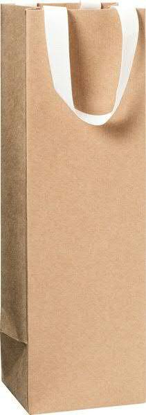 Flaschentasche Papier 11x10,5x36cm, natur