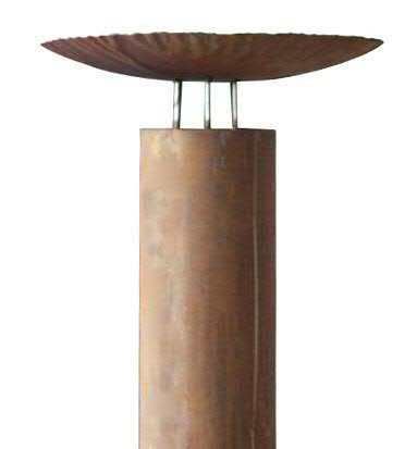 Rost Säule m.Schale D55H175cm