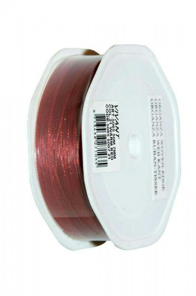 Band Organza 5065/7mm 50m, 21 rubin