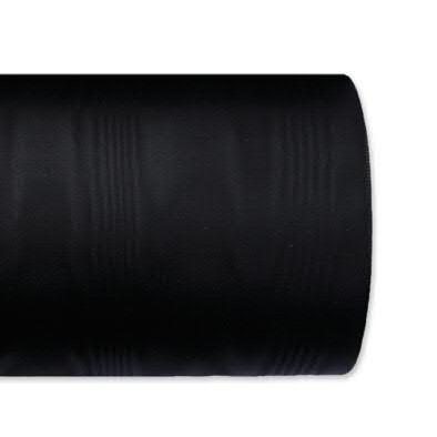 Kranzband 5025/075mm 25m Moire, 100 schwar