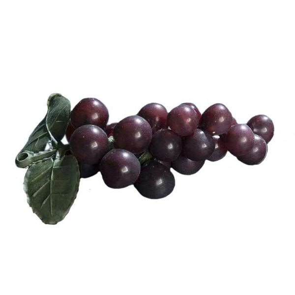 Weintrauben x24 10cm m.2Blättern, burgund
