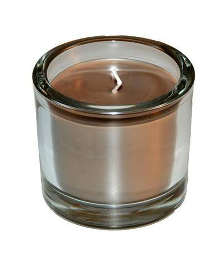 Kerze i.Glas H8D9cm, sahara