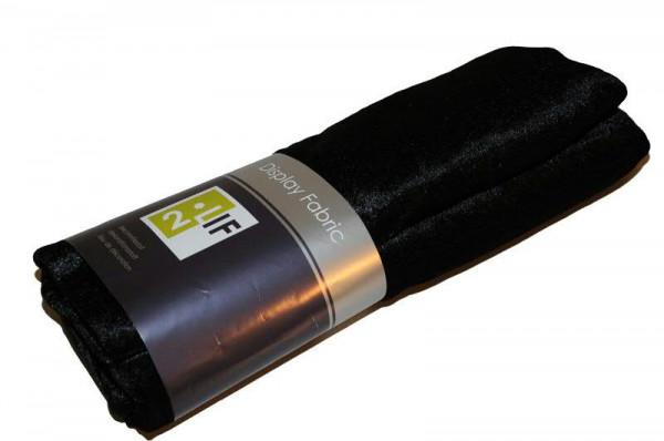 Stoff 140cmx3m Velour Velvet, schwarz