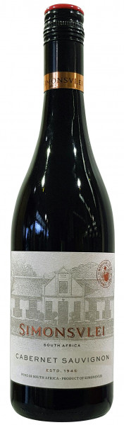 Wein Simonsvlei Cabernet Sauvignon Jg.2018 | 0,75l | Südafrika, rot