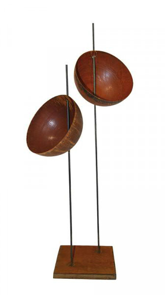 Rost Schalenständer x2 D40H163cm