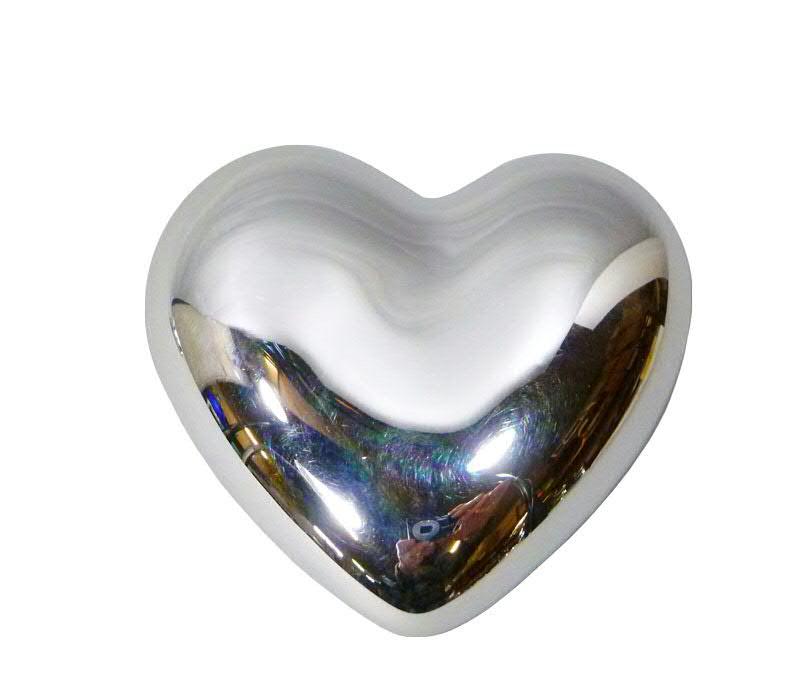 Herz keramik 5 5cm silber valentinstag besondere for Besondere dekoartikel