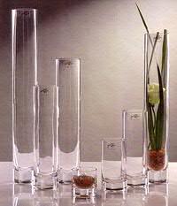 Glas Rohrvase H12D6cm Solifleu, klar