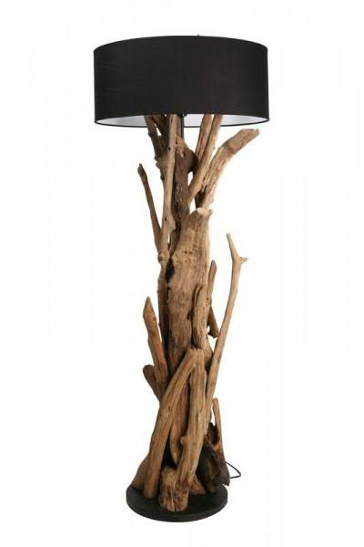 Stehlampe Teakholz 40x130-165cm