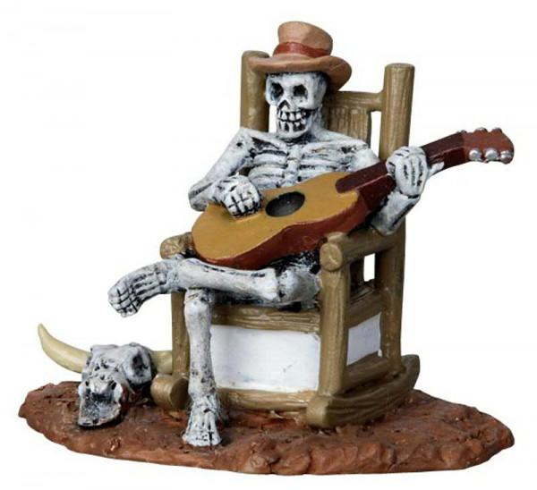 Halloween Rocking chair skeleton 6,2x5,2cm
