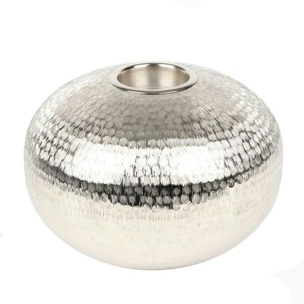 Teelichthalter Metall H16D25,5cm, silber