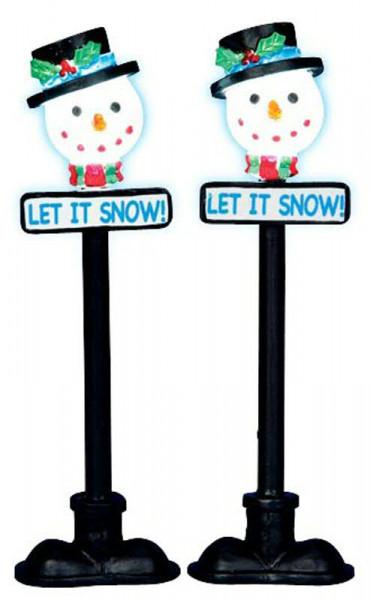Snowman Street 2St.H10cm Batterie Beleuchtet