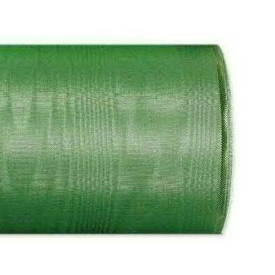 Kranzband 4422/200mm 25m Moire Goldrand, 206 grün